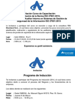 Invitación Curso Auditor Interno
