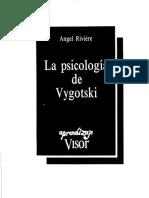 14863536 Angel Riviere La Psicologia de Vygotski