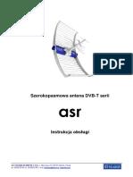 Antena ASR_ASR CLASSIC_instrukcja Obsługi