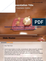 Animated Coffee With Tray Powerpoint Template.pptx
