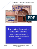 Case Study - How to Improving the Quality of Teacher Training