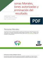 Personas Morales, Deducciones Autorizadas y Determinación Del