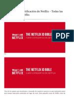 La Biblia de Netflix ID