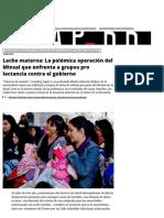 Leche Materna_ La Polémica Operación Del Minsal Que Enfrenta a Grupos Pro Lactancia Contra El Gobierno _ El Desconcierto