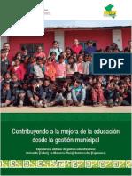 Contribuyendo a La Mejora de La Educación Desde La Gestion Municipal