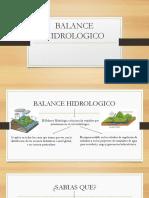 Balance Hidrologico