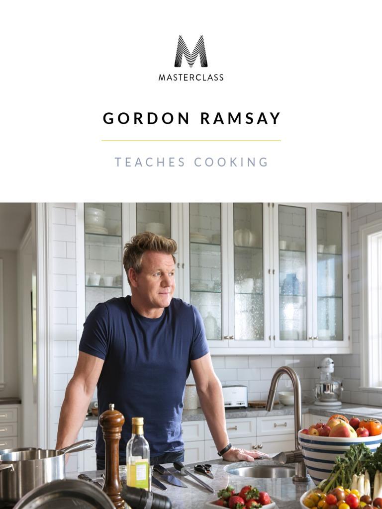 Gordon ramsay teaches cooking masterclass workbookpdf pasta dough forumfinder Images