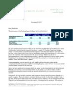 Pershing Square 3Q17 Investor Letter November 2017 PSH 2
