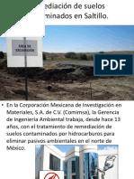 Remediación de Suelos Contaminados en Saltillo