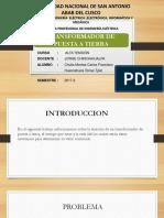 Transformador de Puesta a Tierra - Huancahuire y Chulla