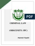Criminal Law (Ipc)