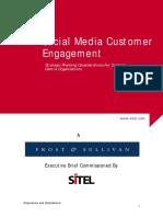 Frost Sullivan Social Media Customer Engagement White Paper