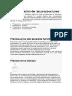 Clasificación y Tipos de Las Proyecciones