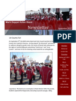 september 2017 band newsletter