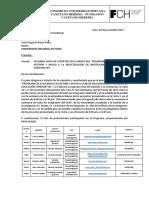 Carta N◦ 033-2017-CUPCH-FCH Segunda Visita expertos UNP