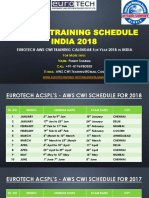 AWS CWI Training Schedule 2018
