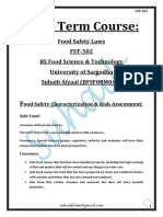 1. FST - 502---Food Safety Laws... Mid Term Cource