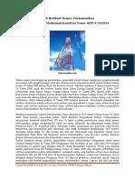 Catatan Berita Retribusi Menara Telekomunikasi