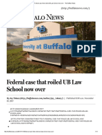 Federal Case That Roiled UB Law School Now Over - The Buffalo News