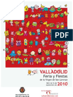 Programa Fiestas Valladolid 2010