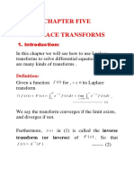 Chapter 5.1 Laplace Transforms