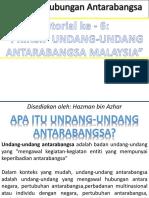 SJH1108 Prinsip Undang-undang Antarabangsa Malaysia