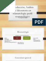 Análisis de Laboratorio en Reumatología