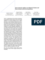 A Hybrid Decision Support System for Employee Recruitment in Business and Employment Oriented Social Network Platforms