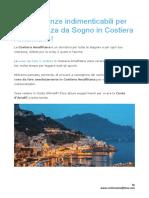 10 Esperienze in Costiera Amalfitana
