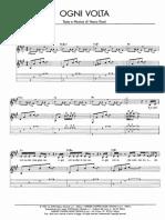 Ogni Volta Pianoforte Vasco Rossi
