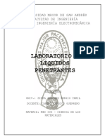 Informe de Liquidos penetrantes