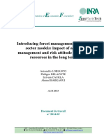 Impact of active management and risk attitude on forest  management