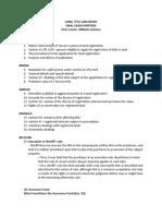 LTD Final Exam Pointers