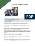 Jokowi Janji Tambah Tunjangan Sertifikasi Guru Dan Raskin