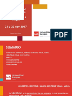 21 y 22 nov Diseño del Manual Corporativo de la Comunicación. Marca, identidad e Imagen