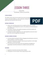 micro-bit lesson 3 plan