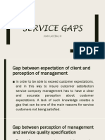 F3 Service Gaps