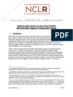 State by State Guide to Laws That Prohibit Discrimination Against Transgender People
