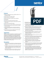 Sentry Dry Chemical Hand Portable ExtinguishersData Specification Sheet