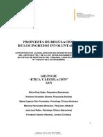 Propuesta de Regulación de Los Ingresos Involuntarios - AEN