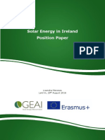 GEAI Position Paper on Solar Energy