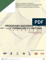 Plan Nacional de Formación en Historia 2013. FORMATO PARA TODOS - RAMON AGUILAR