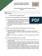 Examen Del Diplomado en Diseño y Supervisión de Obras Hidraulicas