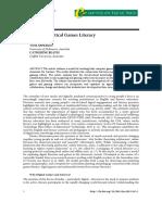 APPERLEY, Beavis. A Model for Critical Games Literacy