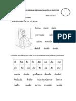 EVALUACIÓN Mensual de IV Biemestre Comunuicacion