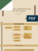 Anatomical Abnormalities of the Uterus