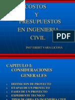 Cap i . Costos y Presupuestos