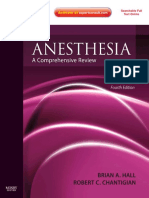 Brian a. Hall, Robert C. Chantigian-Anesthesia_ a Comprehensive Review-Mosby (2010)