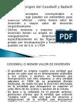 Concepto y Origen Del Goodwill y Badwill