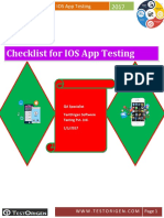Checklist for IOS App Testing